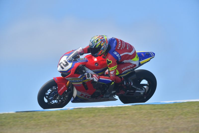 A good start for Moriwaki Althea Honda's Leon Camier, in sixth place on the opening day of the Australian round