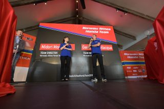 Team Director Midori Moriwaki and Team Manager Genesio Bevilacqua