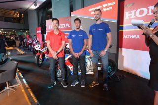 Ratthapark Wilairot, Ryuichi Kiyonari and Leon Camier