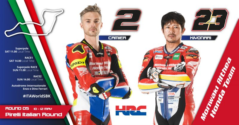 The Moriwaki Althea Honda Team head south for round five of the WorldSBK season