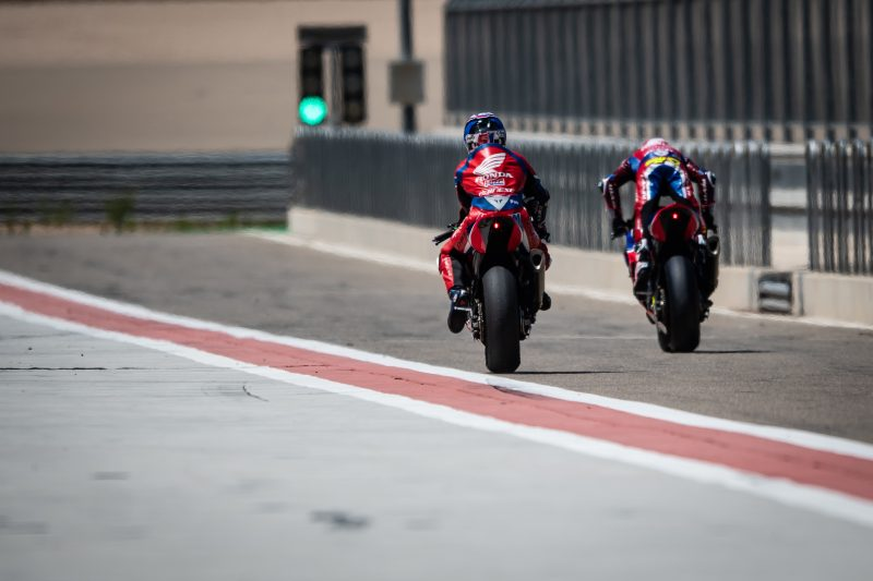 Team HRC readies itself for the weekend's second WorldSBK round