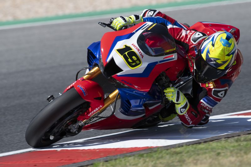 Alvaro Bautista and Team HRC improve on their pace in race 1 at Portimão