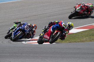 Alvaro Bautista race action