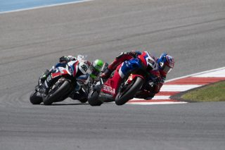 Leon Haslam race action