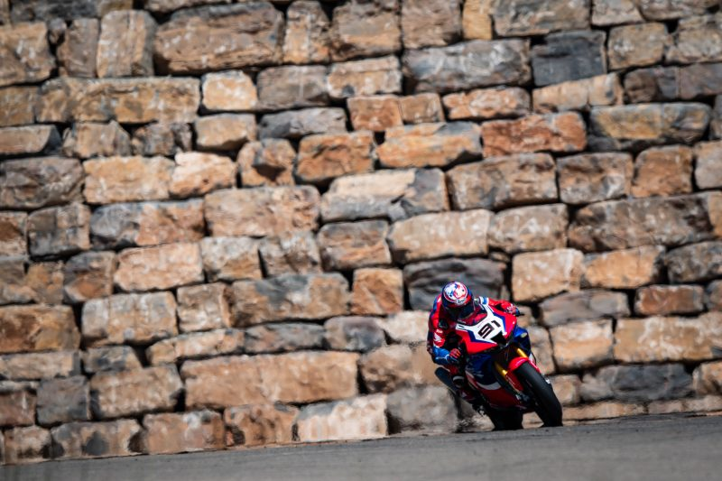 Team HRC concludes a lengthy trip with a two-day test at Motorland Aragón