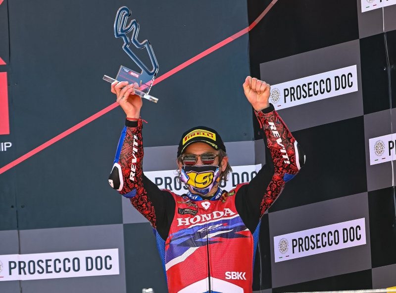 First podium of the season for Team HRC and Bautista at Motorland Aragón