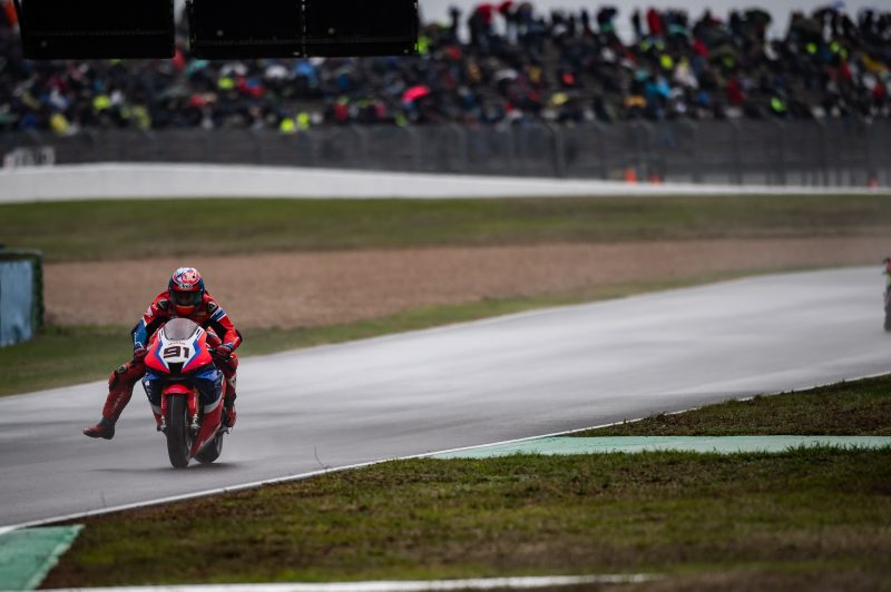 Magny-Cours tricky conditions hinder Team HRC performance
