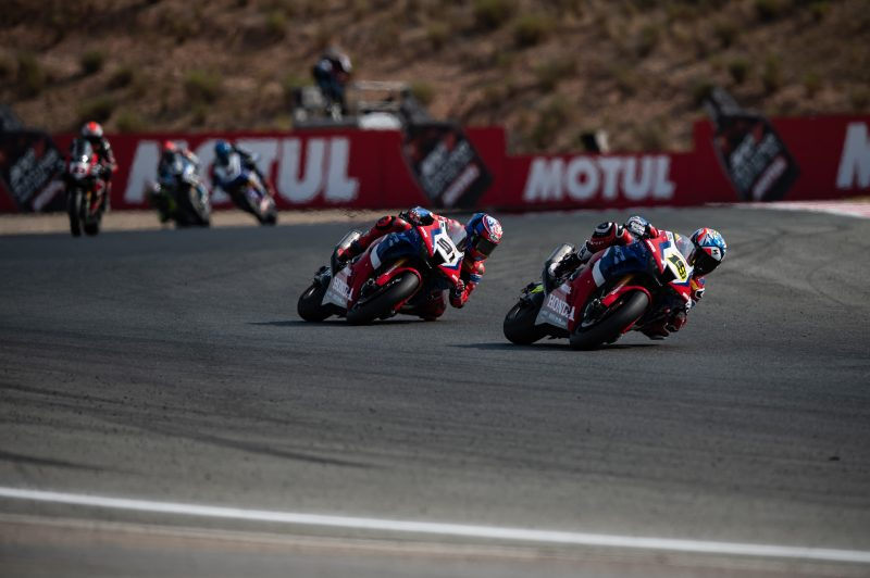 Mixed fortunes for the Team HRC riders in race 2 at Navarra