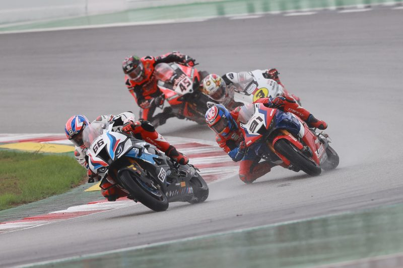 Double top ten for Team HRC in a wet race 1 at Barcelona